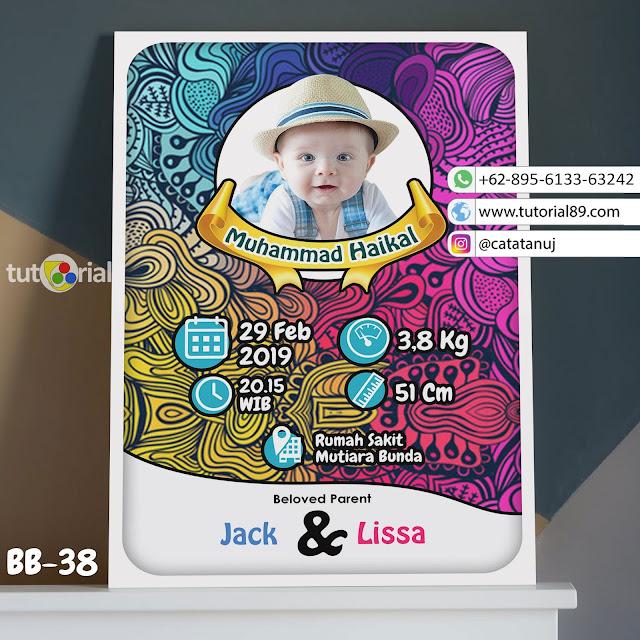 Biodata Bayi Costume Unik Kode BB38 | Abstrak doodle