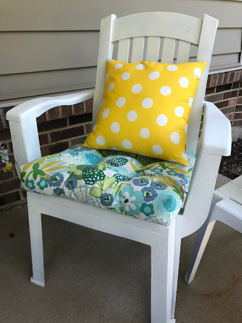 """The Chic Technique: """"Our Lilly Pulitzer-Inspired Porch."""" Summer outdoor decor with bright colors and floral accents. thechictechnique.com"""