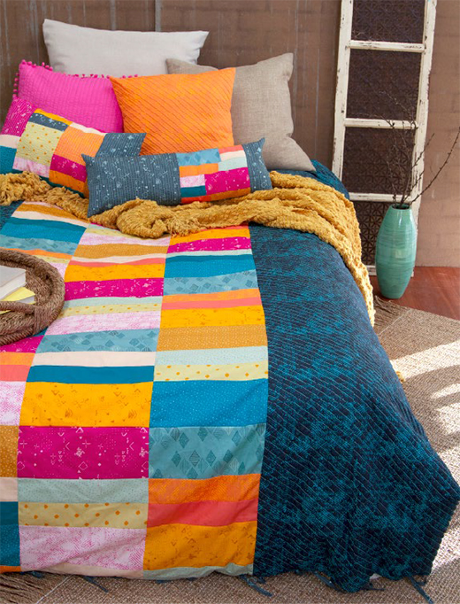 Joyous Dream Quilt designed by Pat Bravo for Live art gallery fabrics, featuring Matchmade Collection