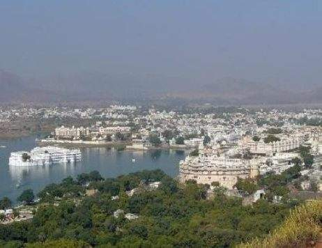 view of udaipur city from Machla Magra