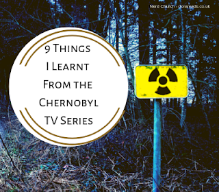 '9 Things I Learnt From the Chernobyl TV Series' title image with radiation sign in front of trees