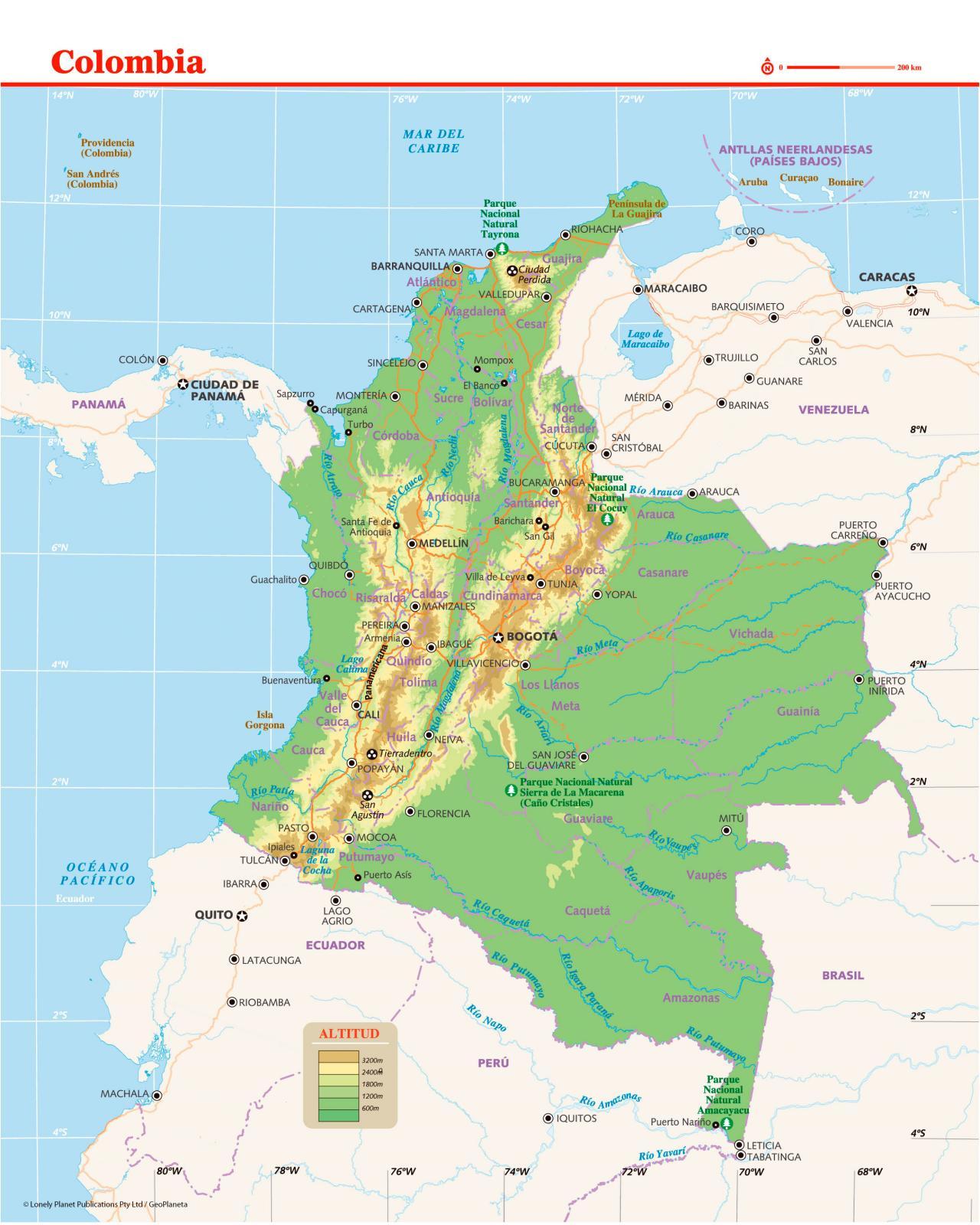 Mapas da Colômbia