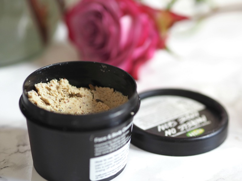 Lush cosmetics face cleanser angels on bare skin