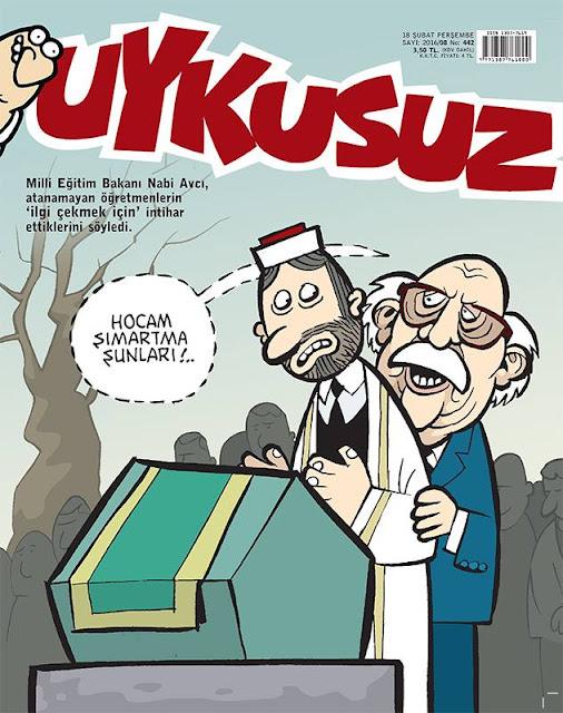 Uykusuz Dergisi - 18 Şubat 2016 Kapak Karikatürü