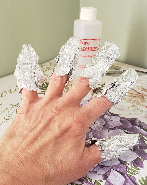 gel manicure removal