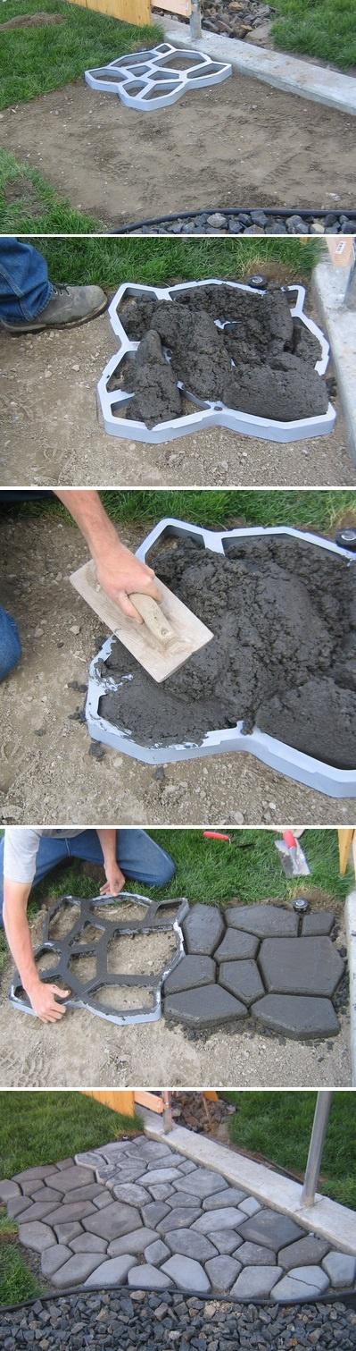 como fazer pedras jardim moldadas no cimento