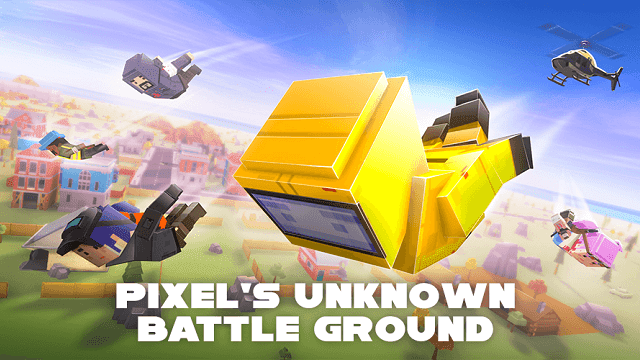 pixel's unknown battle ground mengusung gameplay kotak-kotak seperti minecraft