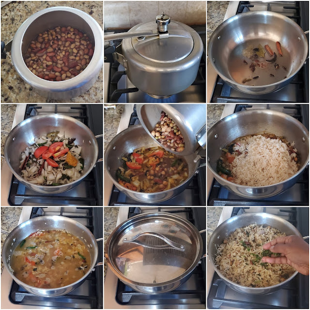 images of Mixed Beans Pulao / 9 Beans Pulao / Bean Pulao / Easy Rice Recipes