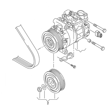 VW GROUP: 8K0260810E VW GROUP-PULLEY DENSO AC COMPRESSOR