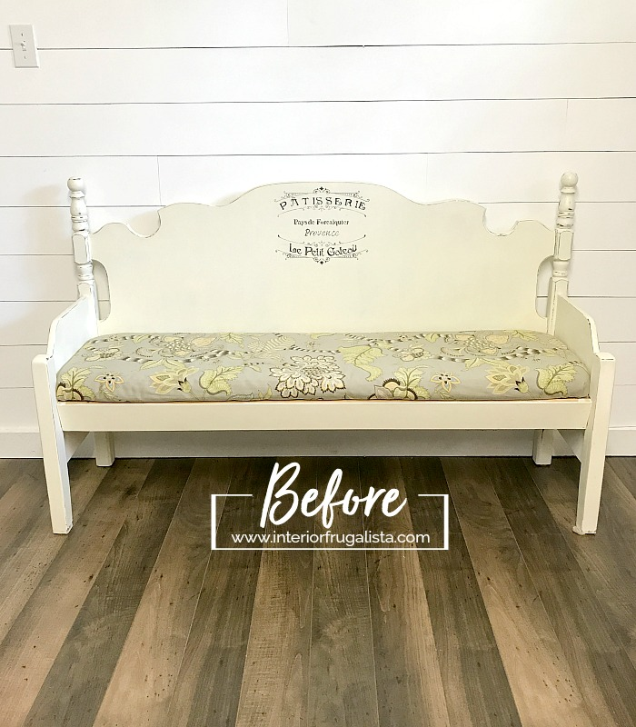 Vintage Headboard Bench Damaged Before