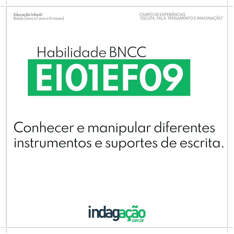 Habilidade EI01EF09 BNCC