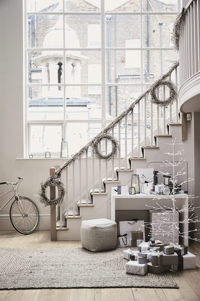 idee per decorare con il bianco questo Natale