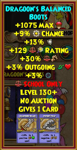Wizard101 Level 130+ Gear - Catacombs Crafted