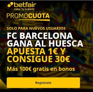 betfair promocuota Barcelona gana Huesca 15 marzo 2021