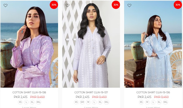 Gul Ahmed Eid sale pret collection