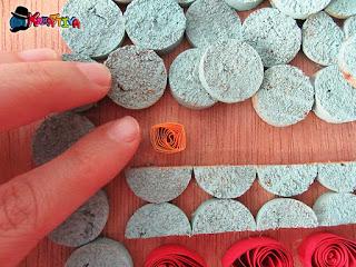 utilizzo dei tappi di sughero per un quadretto autunnale