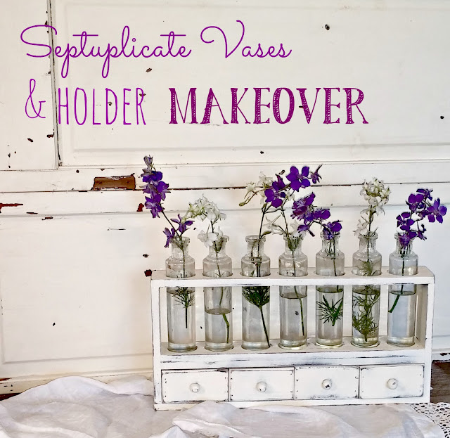 Septuplicate vases and holder makeover