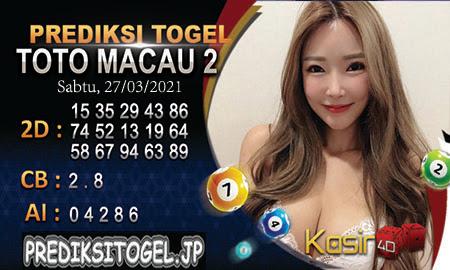 Prediksi Kasir4D Togel Macau Sabtu 27 Maret 2021