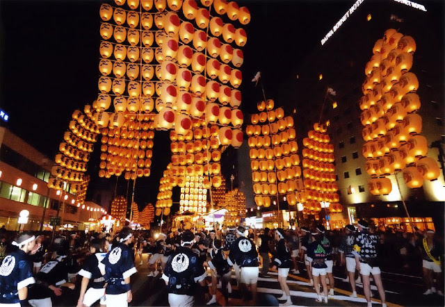 Akita Kanto Matsuri (Pole of Lanterns Festival) in Akita City