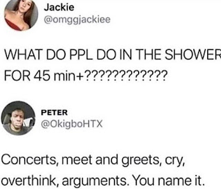 Staying in the Shower Meme