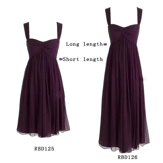 plum bridesmaid dresses in short or long length for fall wedding