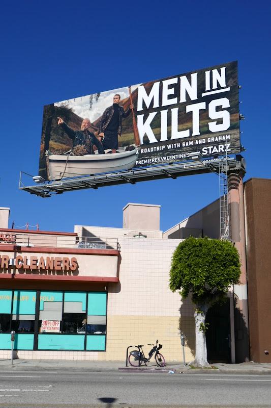 Men in Kilts boat billboard