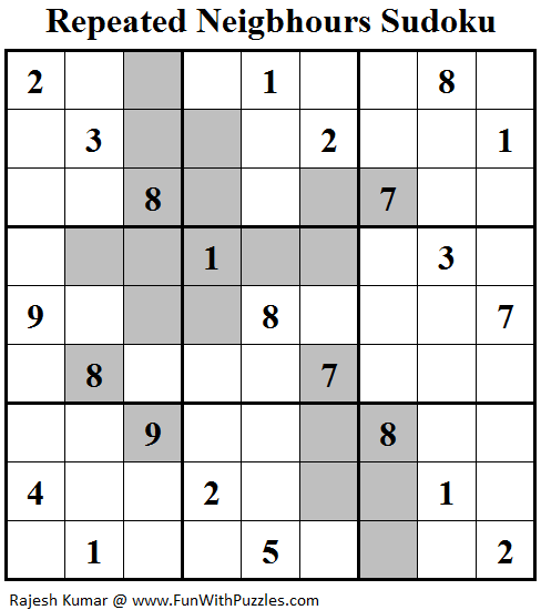 Repeated Neigbhours Sudoku (Daily Sudoku League #130)