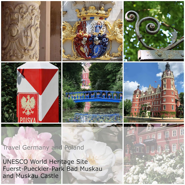 Travel Germany and Poland. UNESCO World Heritage Site. Prince Pueckler Park. Bad Muskau