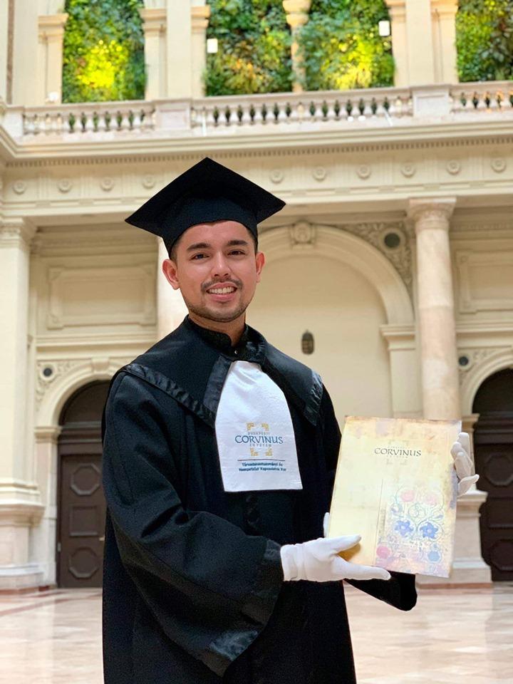 Kent Tangcalagan masters degree Europe summa cum laude