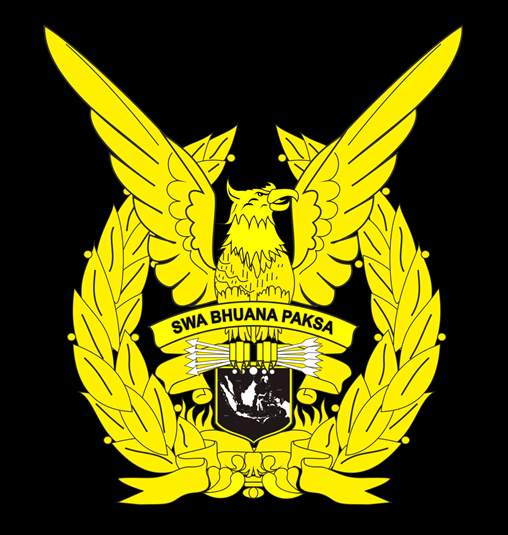 Gambar Logo atau lambang TNI Angkatan udara/AU dengan Swa Bhuwana Paksa