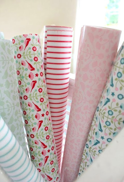 Wrapping+paper Spring pastel Colours | Crochet and Shabby Chic Home Accessories from Lisbeth Sin Lille Verden