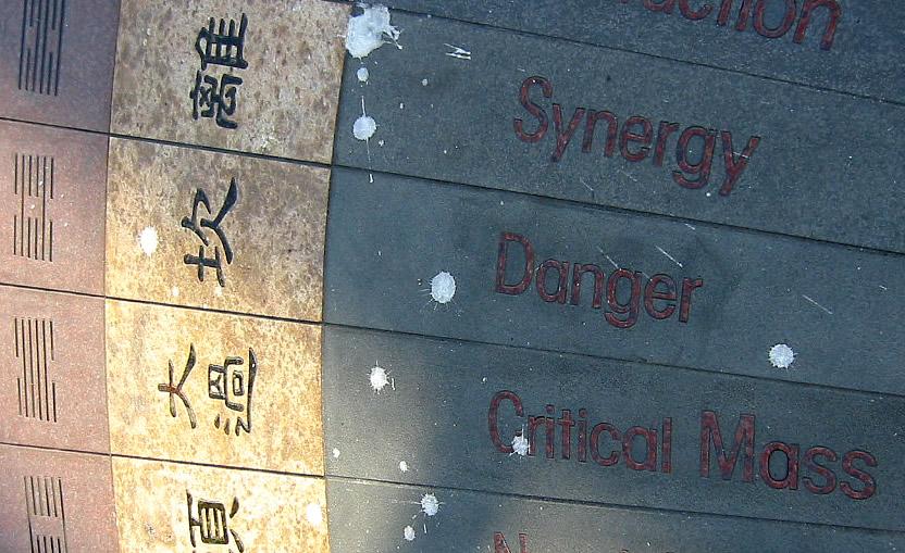 3 Hexagramas, com seu nome em inglês, do I Ching, o Livro das Mutações