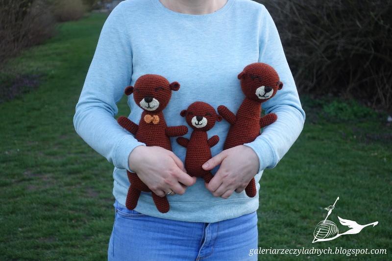 Mała rodzinka wydr