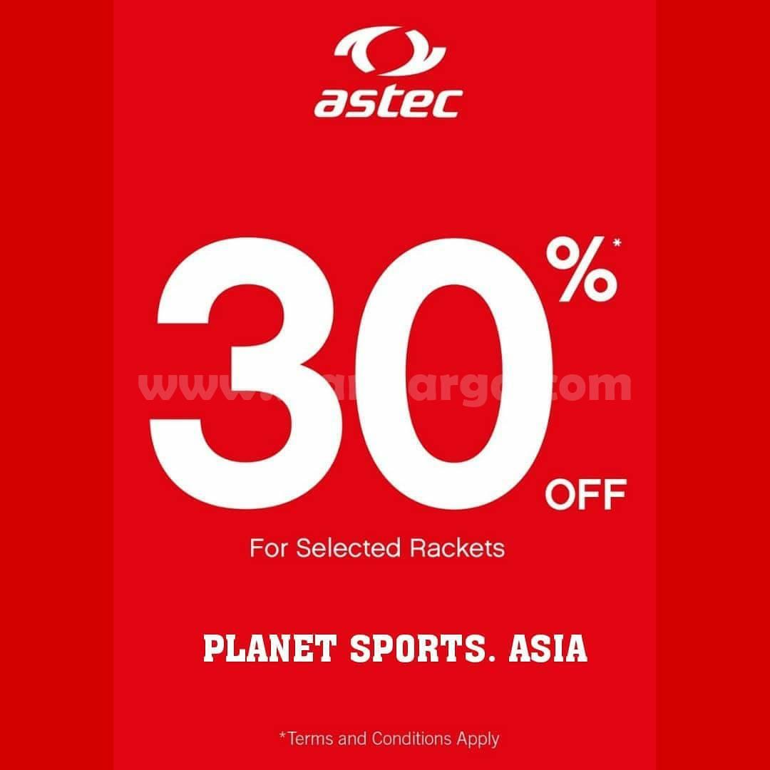 PLANET SPORTS Promo ASTEC & ADIDAS Badminton GREAT SALE 30%
