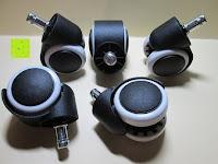 Erfahrungsbericht: LIHAO 5x Hartbodenrollen Drehstuhlrollen 10mm / 50mm Rollenset für Bürostuhl Schwarz Weiß