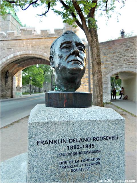Busto de Roosevelt en la Ciudad de Quebec