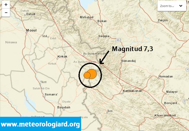 Terremoto de 7,3 en Irak