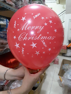 Balon Printing MERRY CHRISTMAS