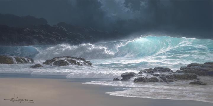 Roy Tabora e suas praias resplandecentes ~ Pintor havaiano