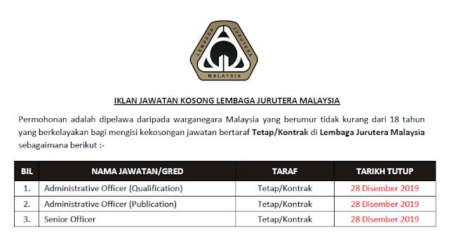 jawatan kosong kerajaan di lembaga jurutera malaysia