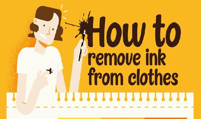 How to Remove Ink From Clothes #infographic