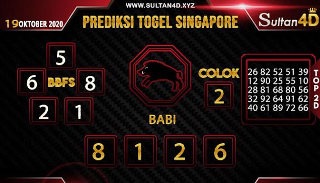 PREDIKSI TOGEL SINGAPORE SULTAN4D 19 OKTOBER 2020