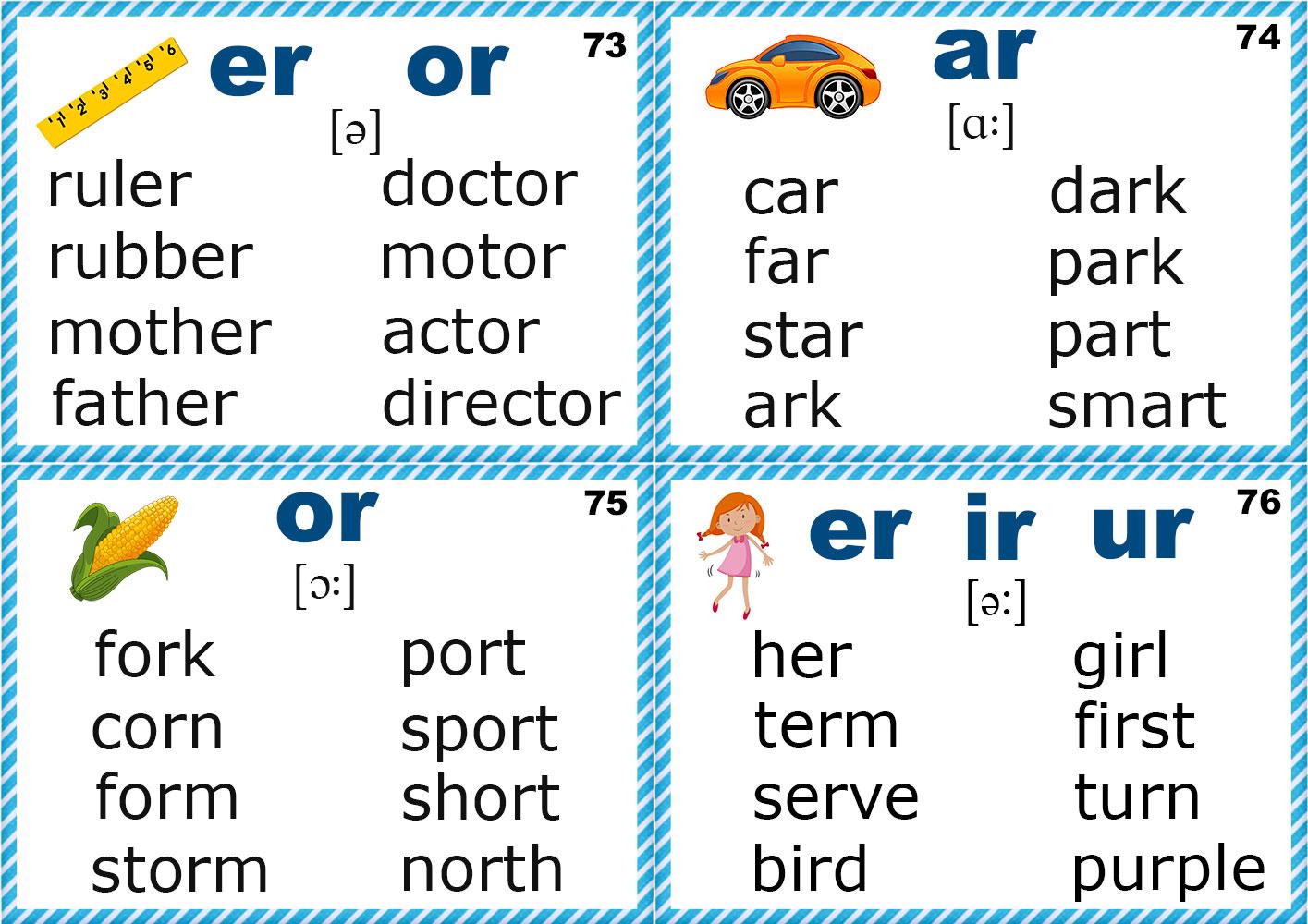 Phonics Flashcards Consonants M N P Q R