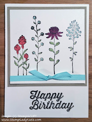 Card made with StampinUP!'s Flowering Fields Stamp Set
