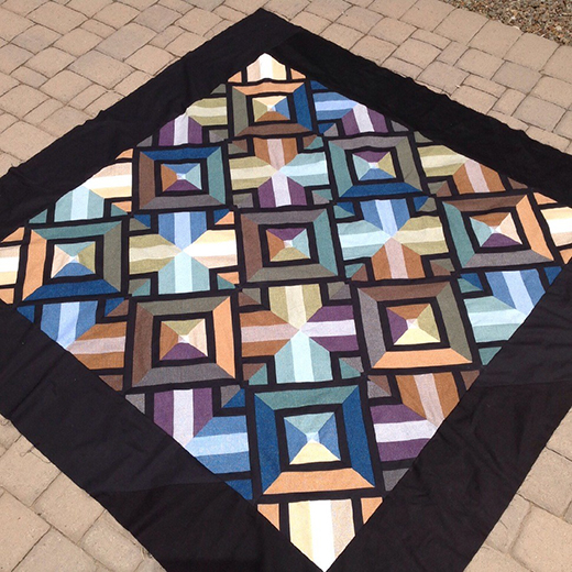 3D Dudes Quilt by Milner, The Tutorial designed by Rob Appell of Man Sewing