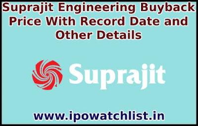 Suprajit Engineering buyback