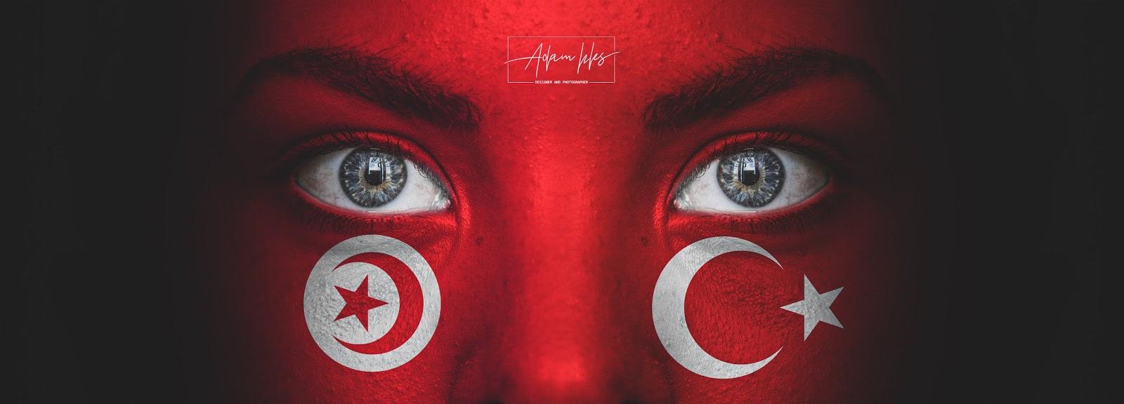 علم تركيا وعلم تونس