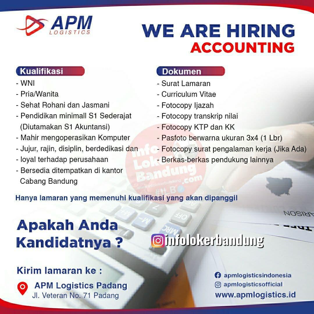 Lowongan Kerja PT. APM Logistic Bandung Juli 2021