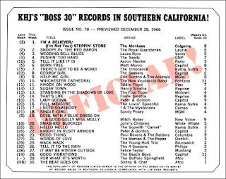 KHJ Boss 30 No. 78 - December 28, 1966