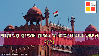 ভারতের বৃহত্তম রাজ্য ও কেন্দ্রশাসিত অঞ্চল ২০২১